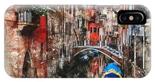 Canal In Venice IPhone Case
