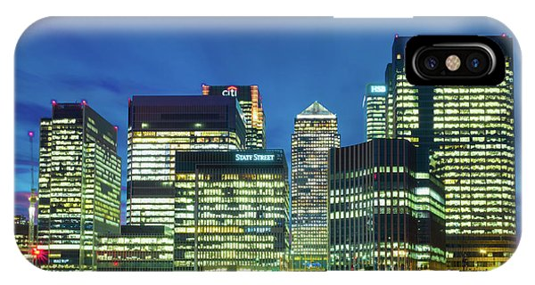 IPhone Case featuring the photograph Canary Wharf by Stewart Marsden