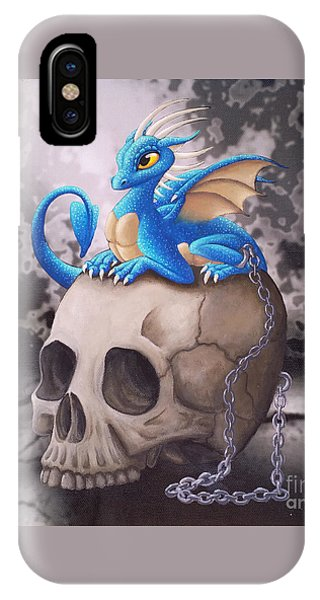 Captive Dragon On An Old Skull IPhone Case
