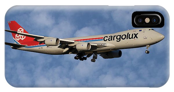 Jet iPhone X / XS Case - Cargolux Boeing 747-8r7 1 by Smart Aviation