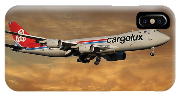 Jet iPhone X / XS Case - Cargolux Boeing 747-8r7 2 by Smart Aviation