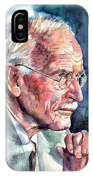 Expressionism iPhone Case - Carl Gustav Jung Portrait by Suzann Sines