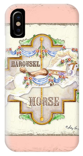 Bunting iPhone Case - Carousel Dreams - Horse by Audrey Jeanne Roberts