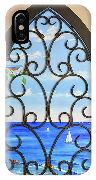 IPhone Case featuring the painting Cathedral View by Mary Scott