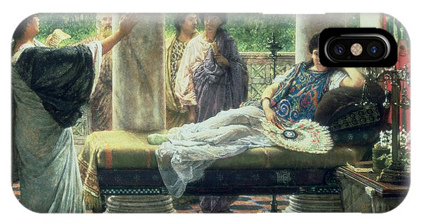 Chaise iPhone Case - Catullus Reading His Poems by Sir Lawrence Alma-Tadema