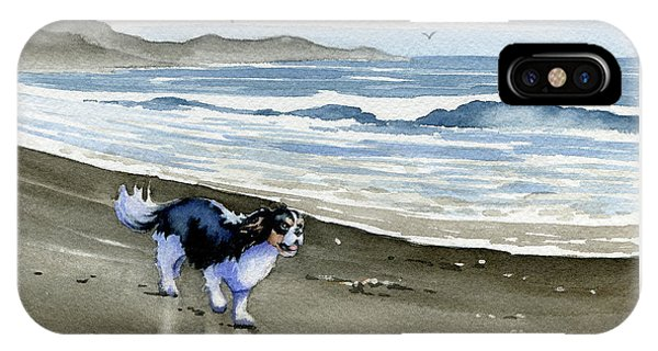 King Charles iPhone Case - Cavalier King Charles Spaniel At The Beach by David Rogers