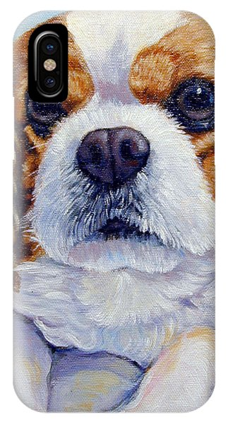 King Charles iPhone Case - Cavalier King Charles Spaniel by Lyn Cook