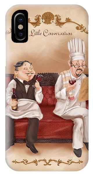 Chefs On A Break-a Little Conversation IPhone Case