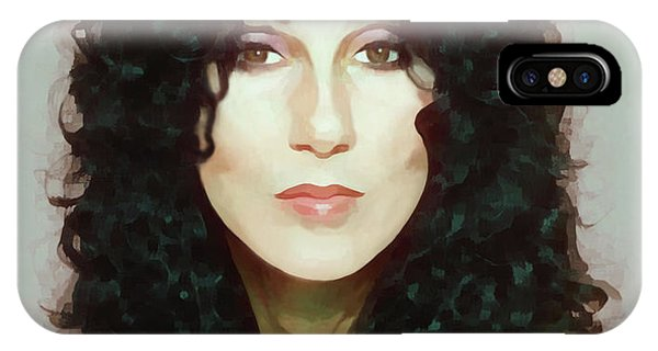 Sonny And Cher iPhone Case - Cher 80's by Donna Schellack