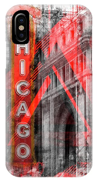 Chicago Geometric Mix No 4 IPhone Case