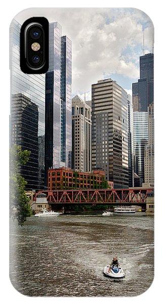 Chicago River Jet Ski IPhone Case