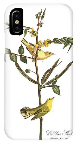 Warbler iPhone Case - Children's Warbler by John James Audubon
