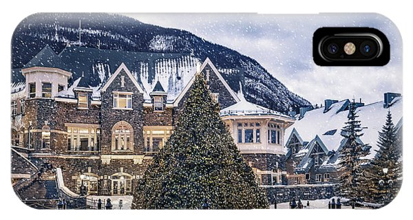 Banff iPhone Case - Christmas Dreams by Evelina Kremsdorf