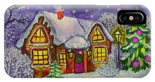 Christmas House, Painting IPhone Case