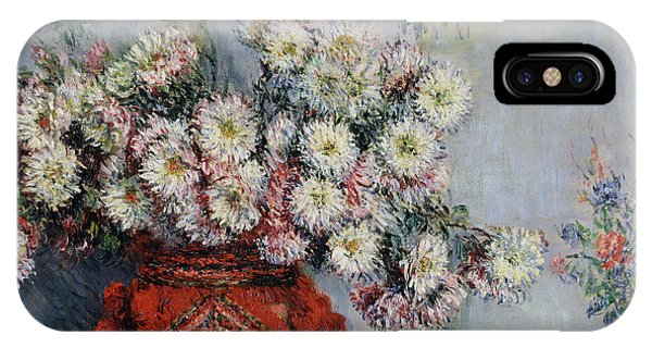 Botany iPhone Case - Chrysanthemums by Claude Monet