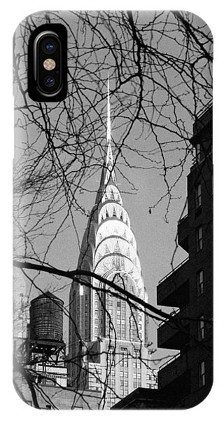 Chrysler Building And Tree IPhone Case