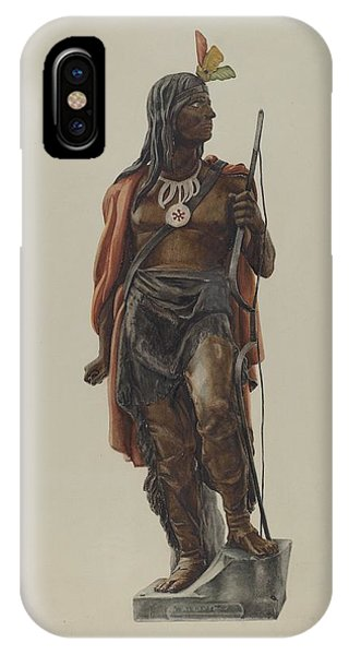 iPhone Case - Cigar Store Indian by Maurice Van Felix And Elizabeth Fairchild