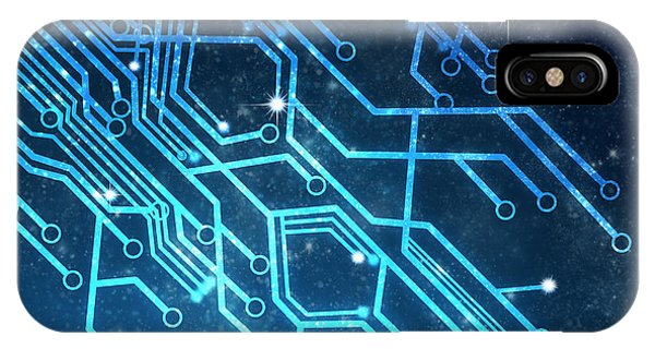 Illustration iPhone Case - Circuit Board Technology by Setsiri Silapasuwanchai