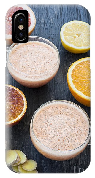Grapefruit iPhone Case - Citrus Smoothies by Elena Elisseeva
