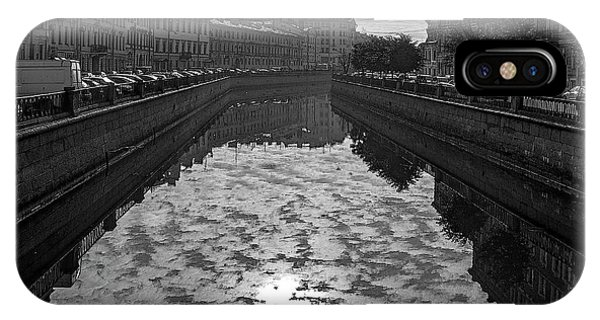 City Reflected In The Water Channels IPhone Case