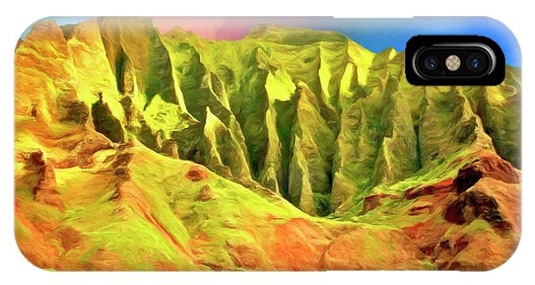 Hawaiian Sunset iPhone Case - Cliffs On The Na Pali Coast by Dominic Piperata