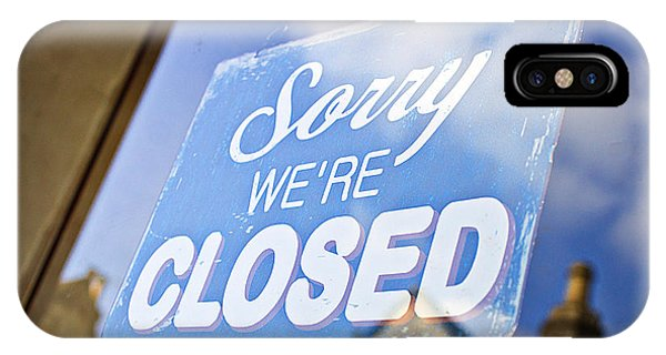 Small Business iPhone Case - Closed Sign by Tom Gowanlock