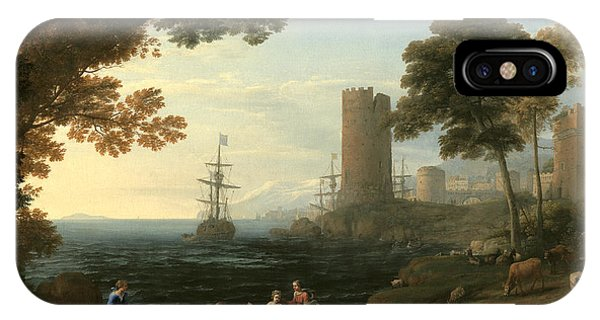 Coast View With The Abduction Of Europa IPhone Case