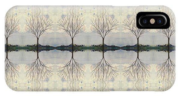 Colorado Cottonwood Tree Mirror Image  IPhone Case