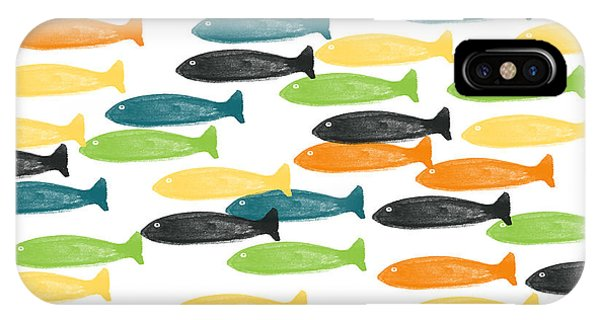 Gallery Wall iPhone Case - Colorful Fish  by Linda Woods