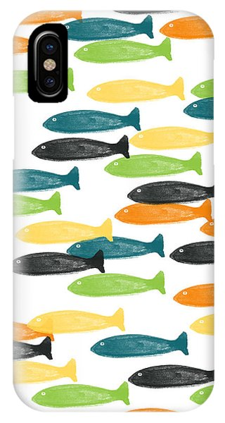 River iPhone Case - Colorful Fish  by Linda Woods
