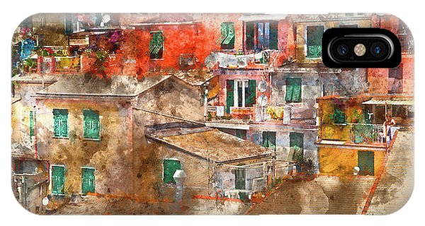 Colorful Homes In Cinque Terre Italy IPhone Case