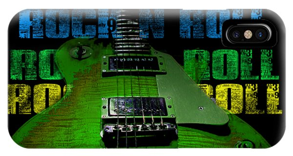 IPhone Case featuring the photograph Colorful Music Rock N Roll Guitar Retro Distressed  by Guitar Wacky