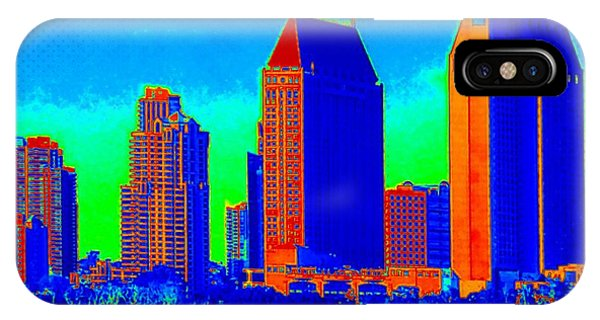 Comic Book City By The Bay IPhone Case