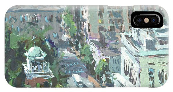 Contemporary Richmond Virginia Cityscape Painting IPhone Case
