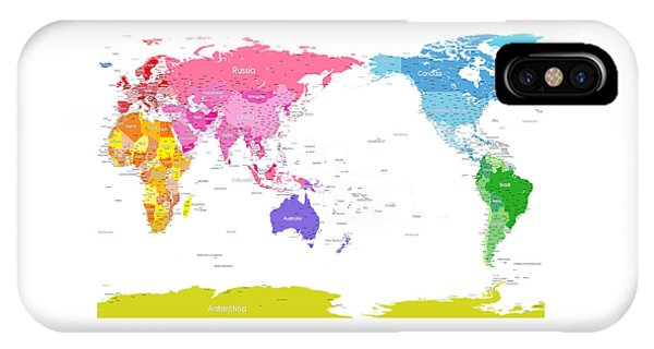 Continents World Map IPhone Case