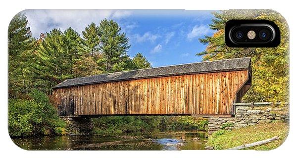 Covered Bridge iPhone Case - Corbin Covered Bridge Newport New Hampshire by Edward Fielding