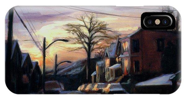 Neighborhood iPhone Case - Corson Avenue - February by Sarah Yuster