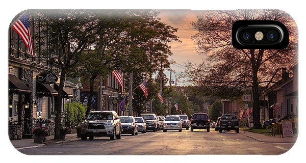 IPhone Case featuring the photograph Cottage Street Evening Sunset by Sven Kielhorn