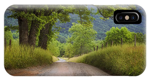 Country Lane In The Smokies IPhone Case