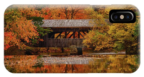 Covered Bridge At Sturbridge Village IPhone Case