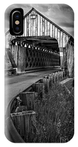 New Hampshire iPhone Case - Covered Bridge Willard West Twin Hartland Vermont by Edward Fielding