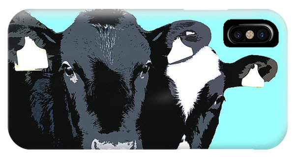 Cows - Blue IPhone Case