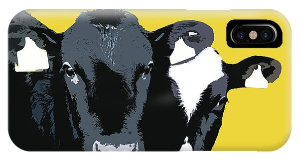 Cows - Yellow IPhone Case