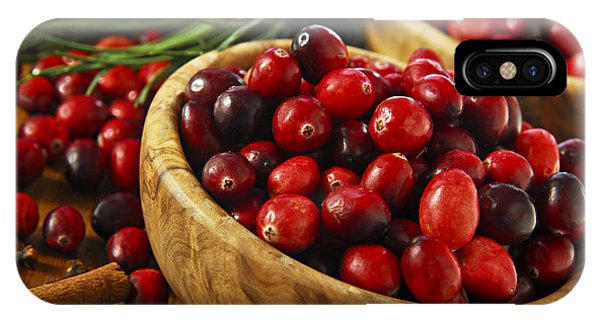 Cranberries In Bowls IPhone Case