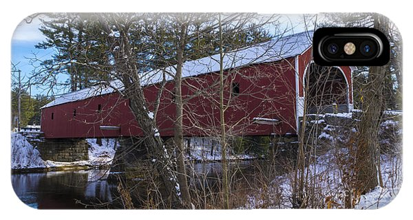 Cresson Covered Bridge. IPhone Case