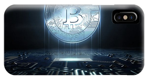 Cryptocurrency Hologram And Circuit Board IPhone Case