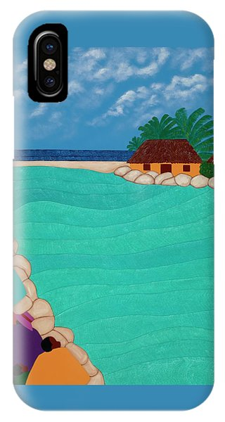 iPhone X Case - Curacao Lagoon by Synthia SAINT JAMES