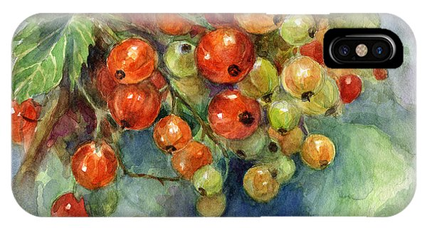 Currants Berries Painting IPhone Case