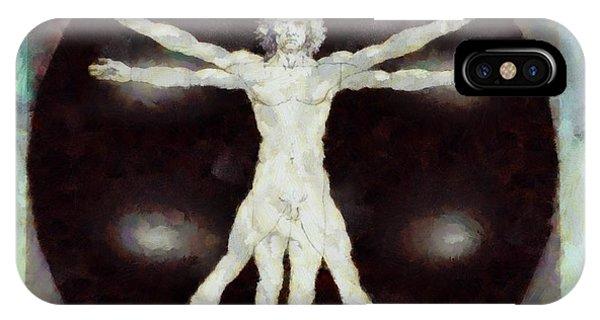 Strange iPhone Case - Da Vinci Dude by Esoterica Art Agency
