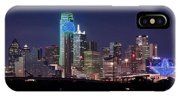 Dallas Skyline Cowboys IPhone Case